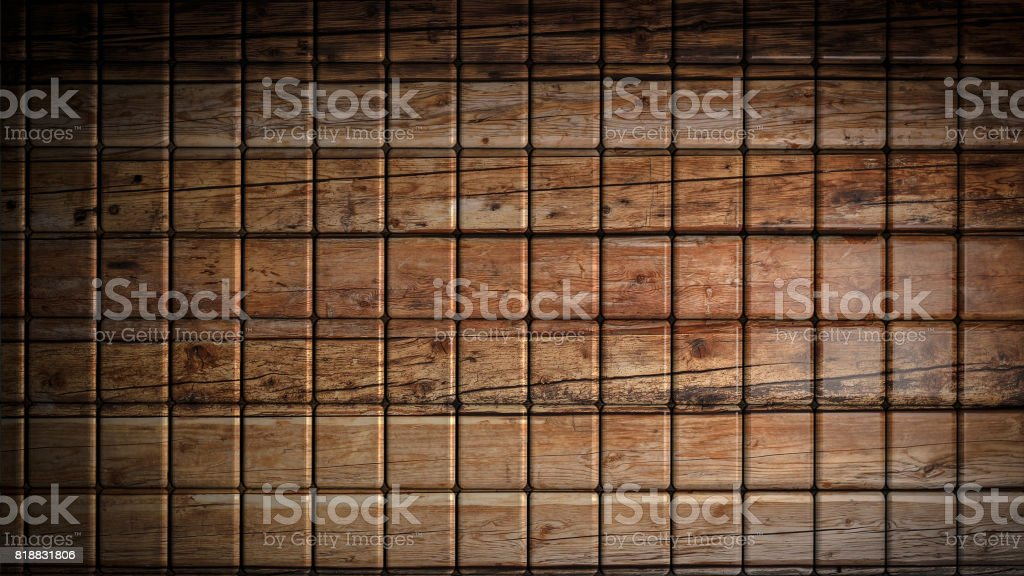 Brown wood material cubes background stock photo