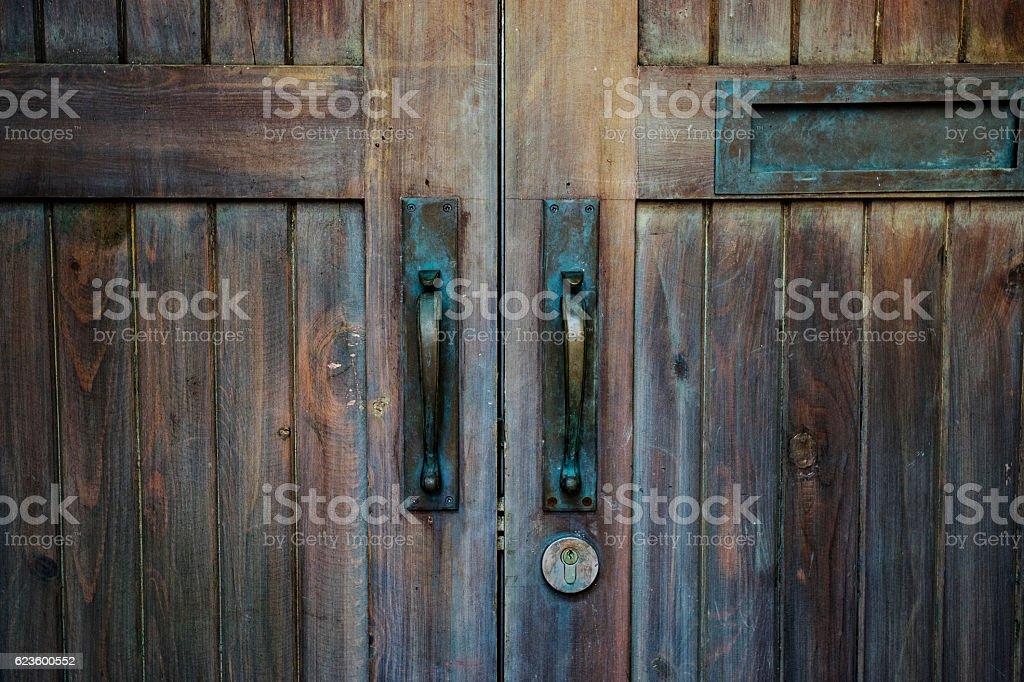 brown wood old door stock photo