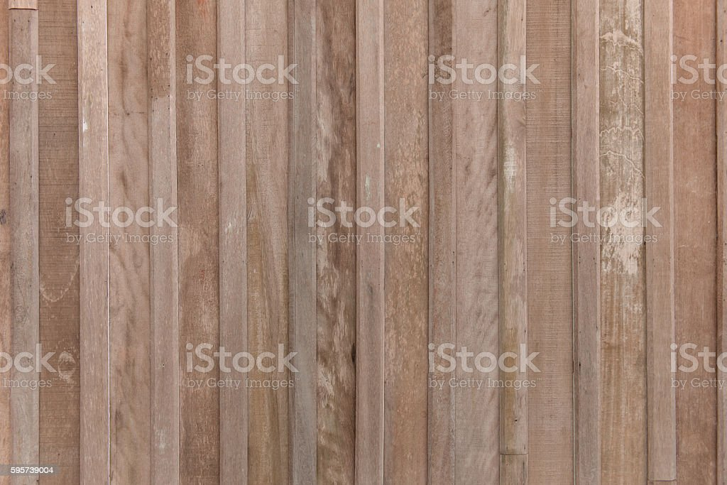 Brown wood panels for background stock photo