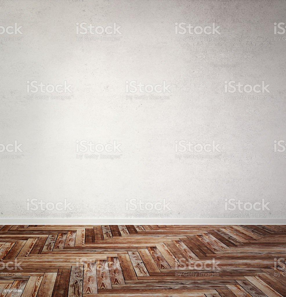 brown wooden herringbone parquet stock photo