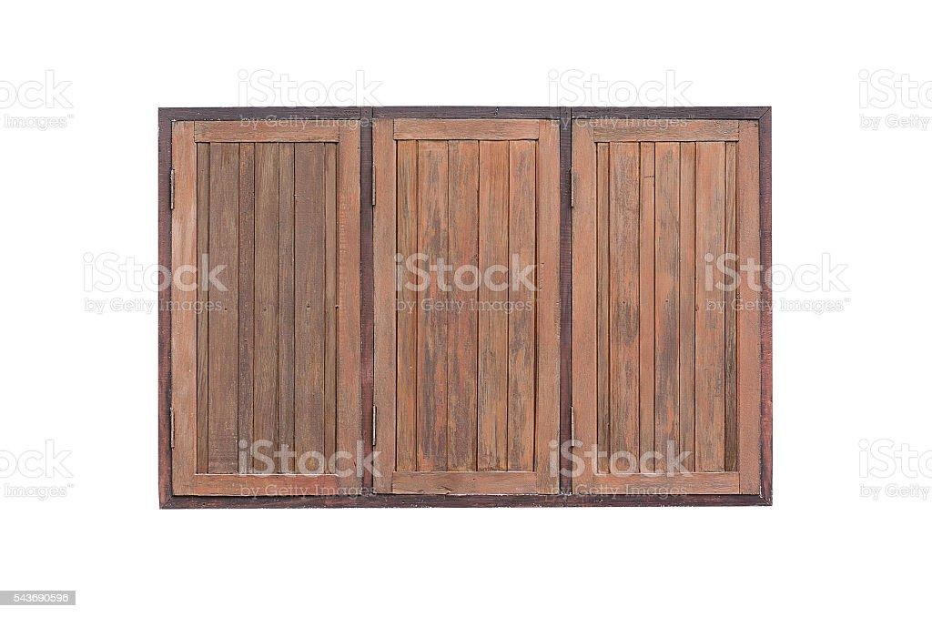 Brown wooden windows on white background foto de stock libre de derechos