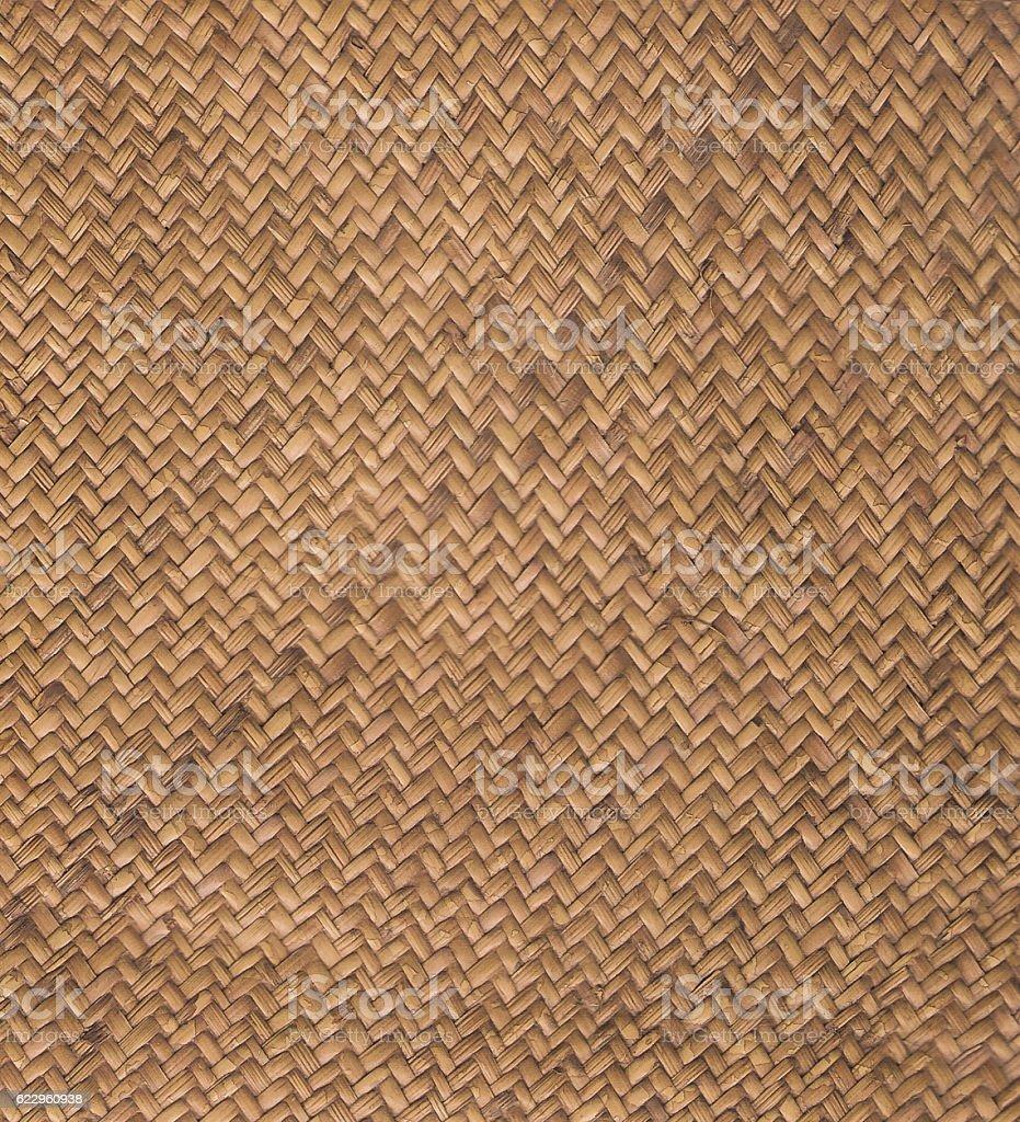 Brown woven rattan seamless textured stock photo