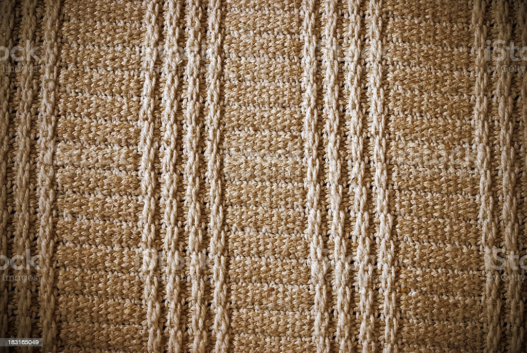 Brown woven striped material background or texture royalty-free stock photo