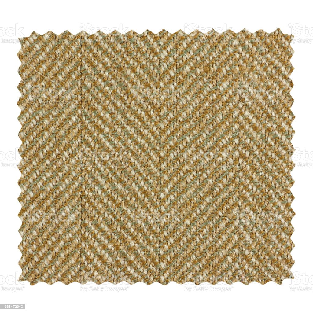 Brown zigzag fabric sample stock photo