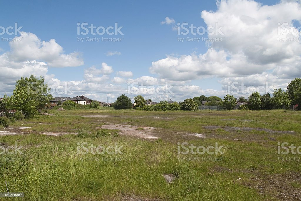 Brownfield site in Northern England stock photo