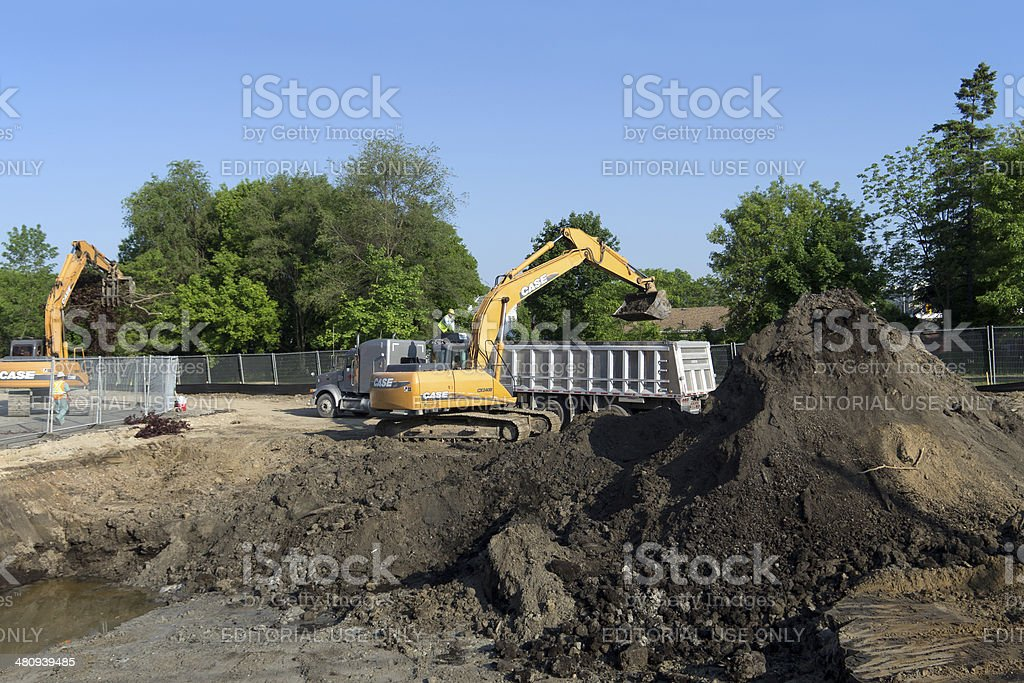Brownfield Soil Remediation royalty-free stock photo