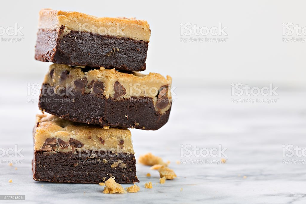 Brownie And Chocolate Chip Brookie stock photo