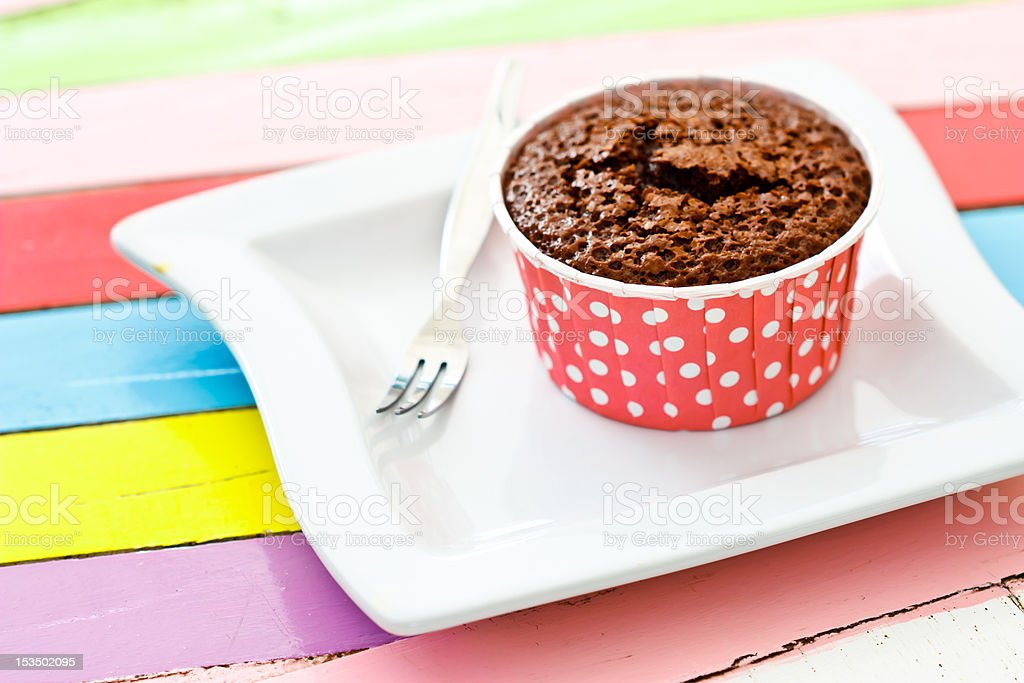 Brownie in paper cup royalty-free stock photo