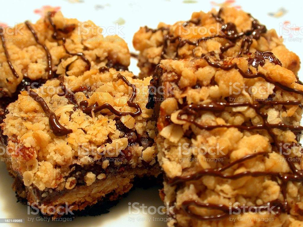 Brownie Squares stock photo