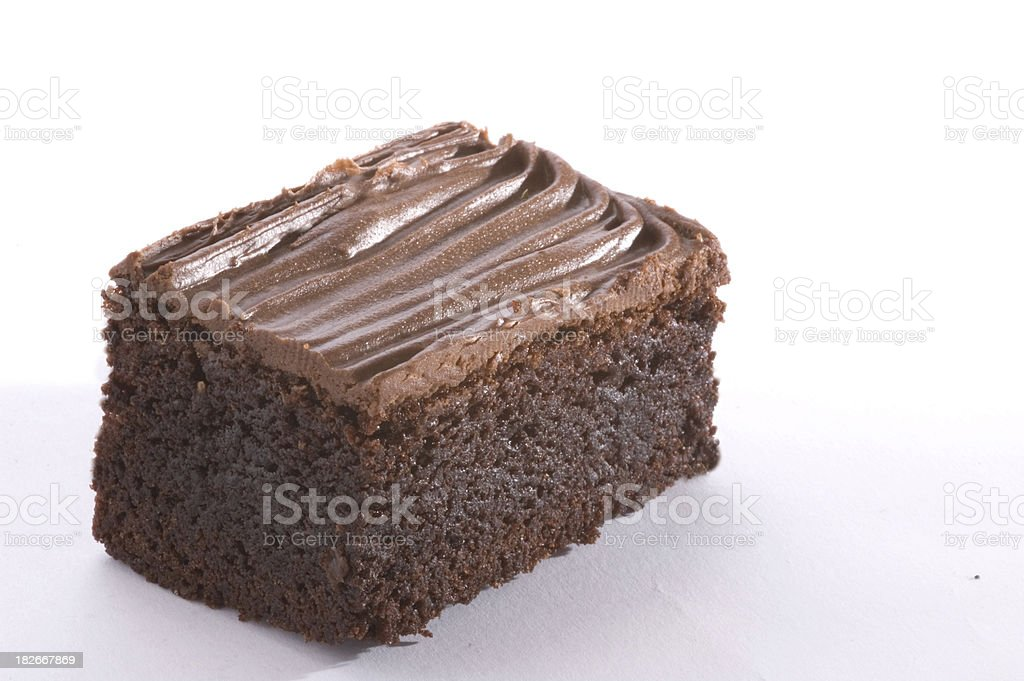 brownie with cream 6 stock photo