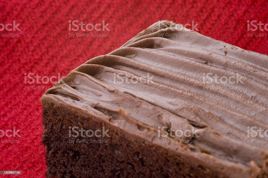 brownie with cream stock photo