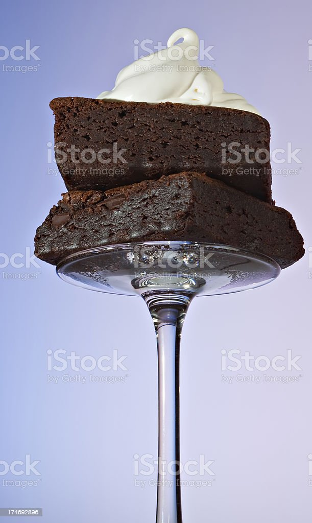 Brownies and Cream royalty-free stock photo
