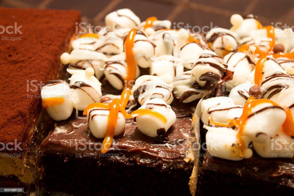 Brownies and Tiramisu stock photo