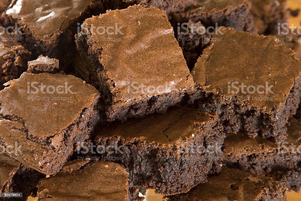 Brownies Close Up royalty-free stock photo
