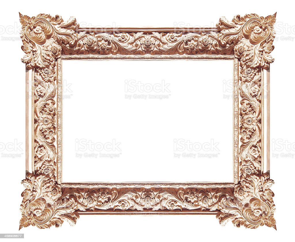 Brownish picture frames. Isolated on white background royalty-free stock photo