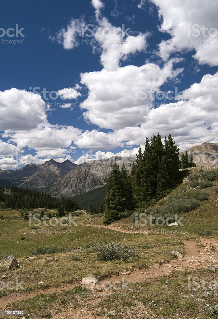 Browns Pass Trail in the Collegiate Peaks Wilderness royalty-free stock photo