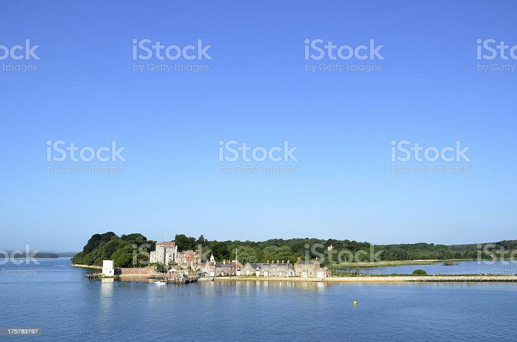 Brownsea Island with Sky stock photo