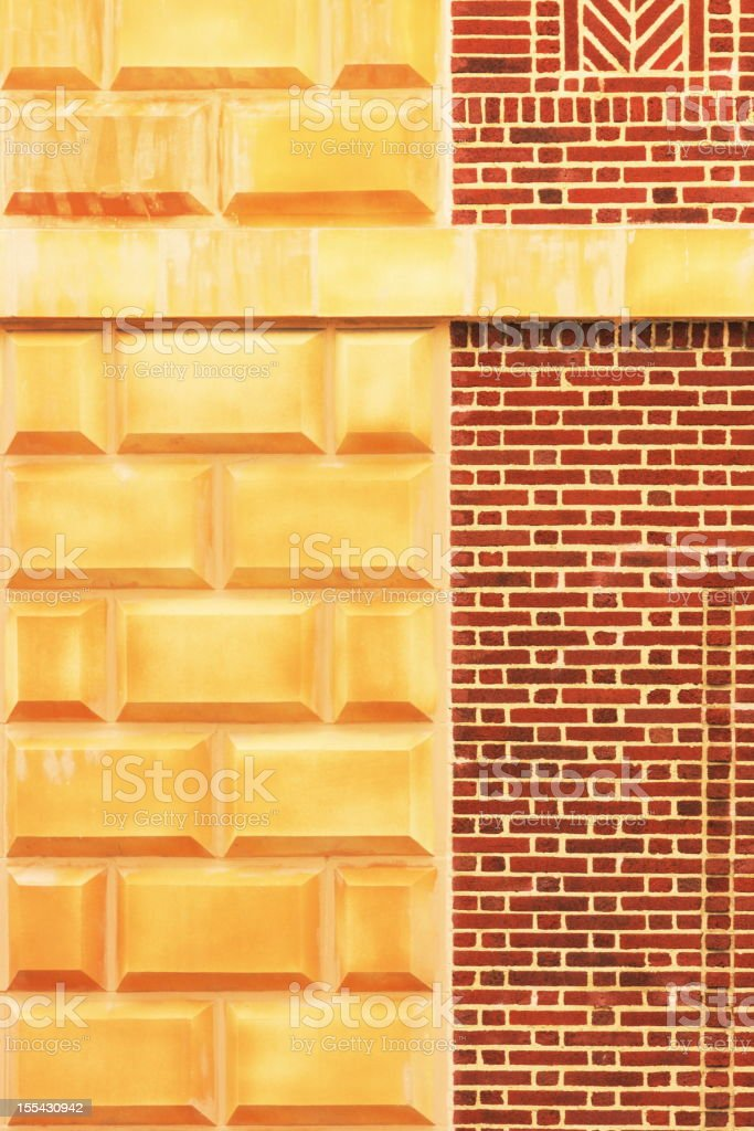 Brownstone Brick Stone Facade Architecture stock photo