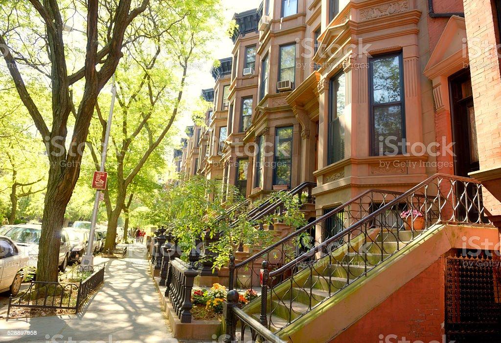Brownstone, Brooklyn, NYC stock photo