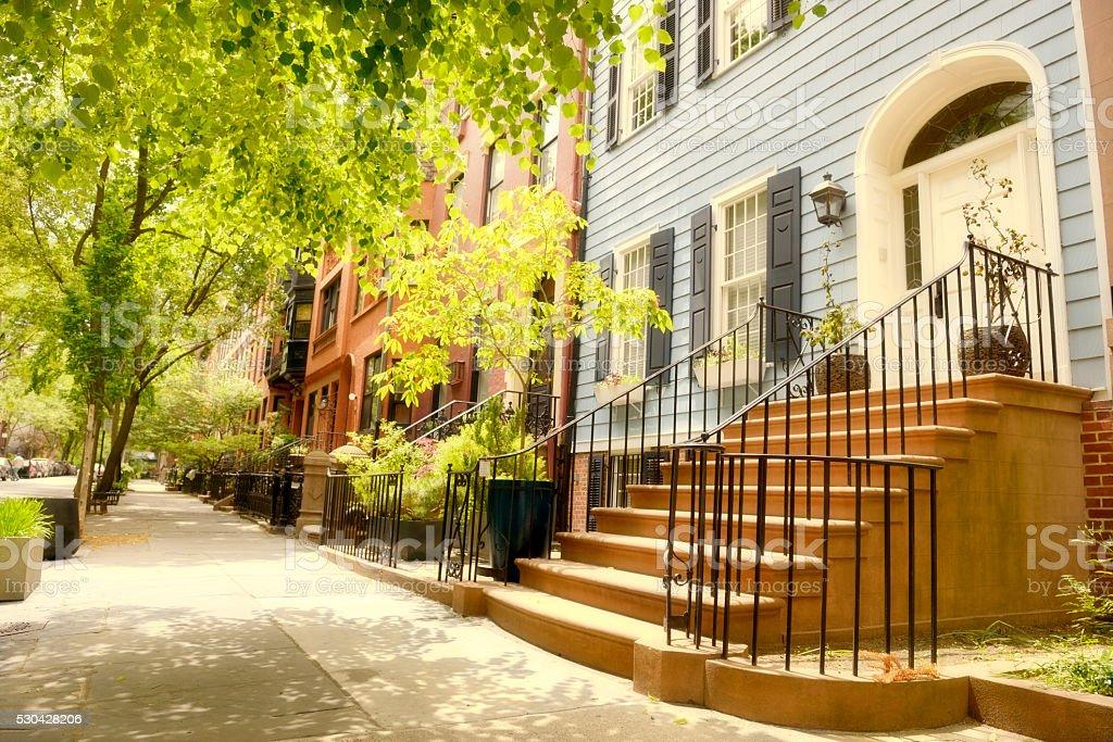 Brownstone, Brooklyn, NYC. stock photo