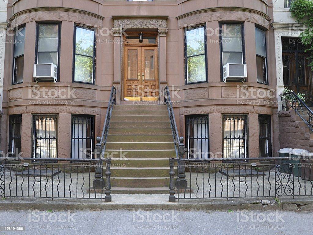 Brownstone Home in Brooklyn New York stock photo