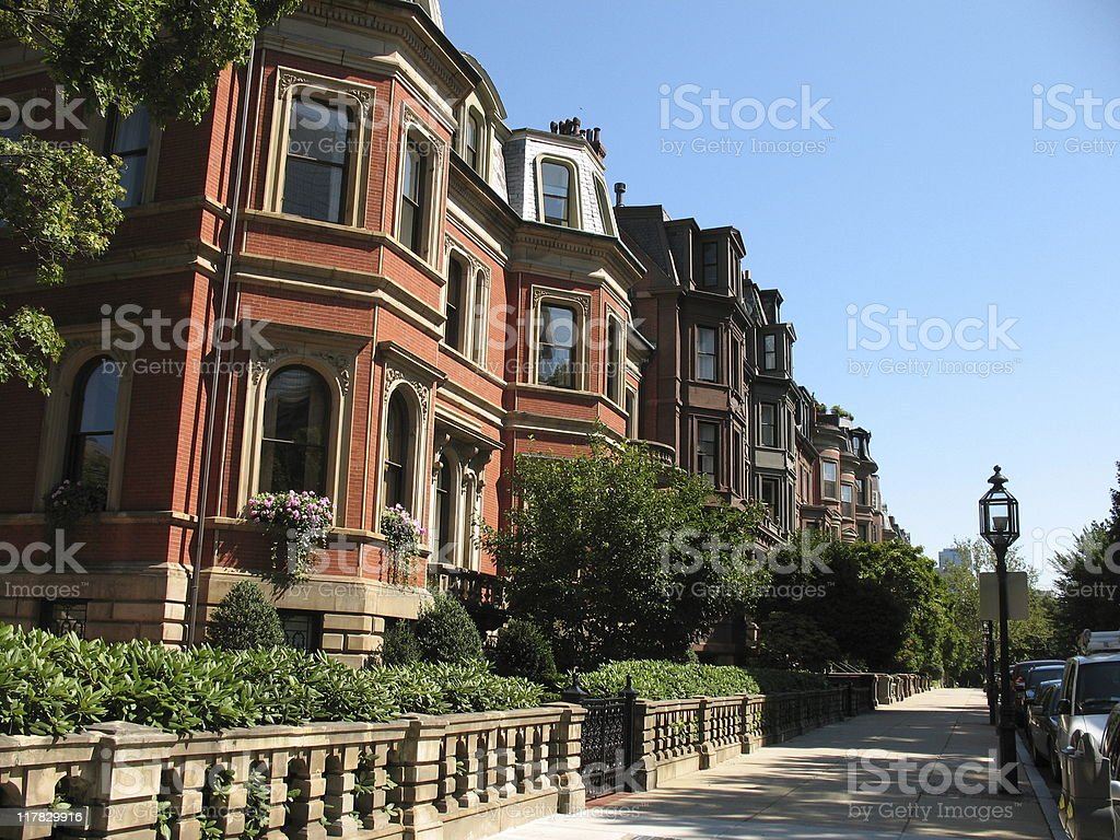 Brownstone Home stock photo