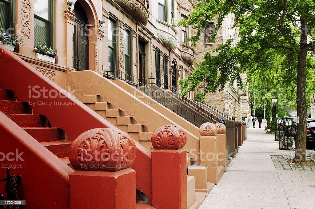 Brownstone, NYC. stock photo