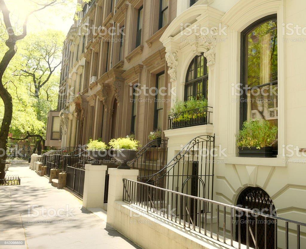 Brownstone, NYC stock photo