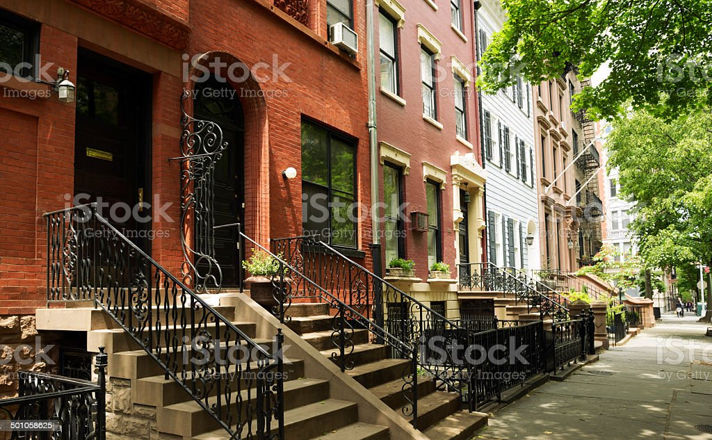 Brownstone,Brooklyn,NYC stock photo