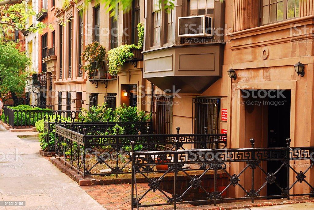Brownstones, Gramarcy Park stock photo