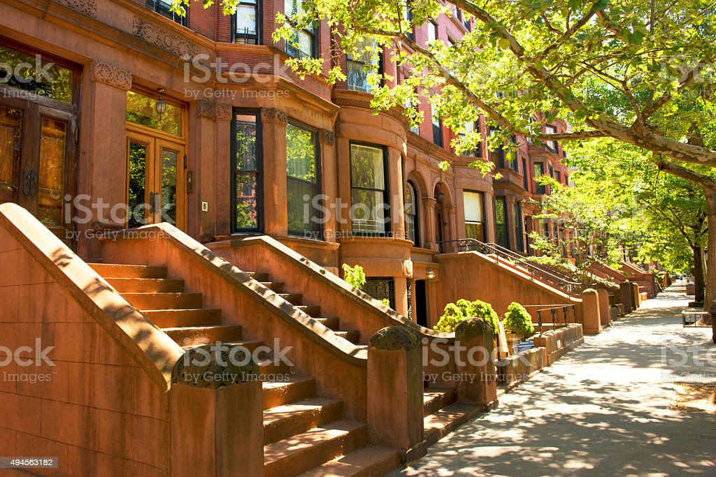Brownstones, NYC. stock photo