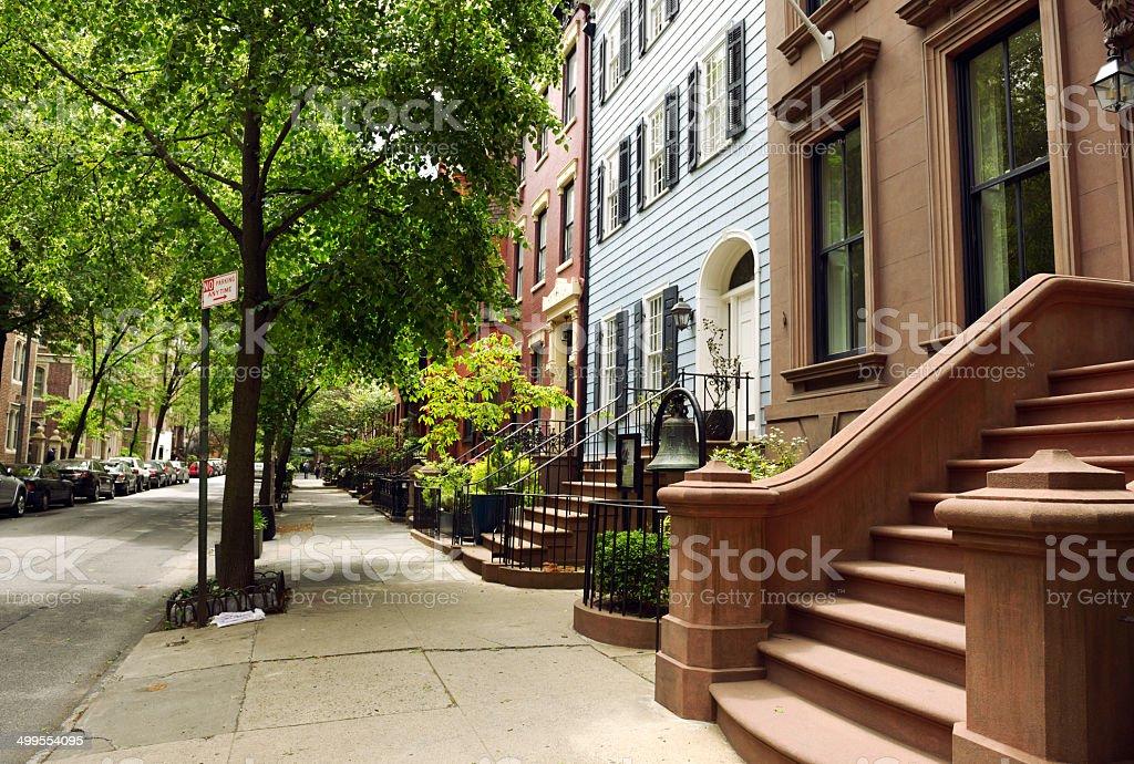 Brownstones, NYC. stock photo
