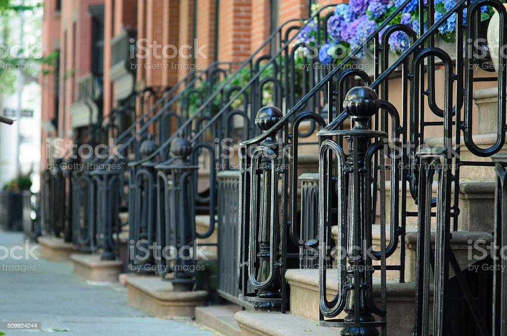 Brownstones of Brooklyn stock photo