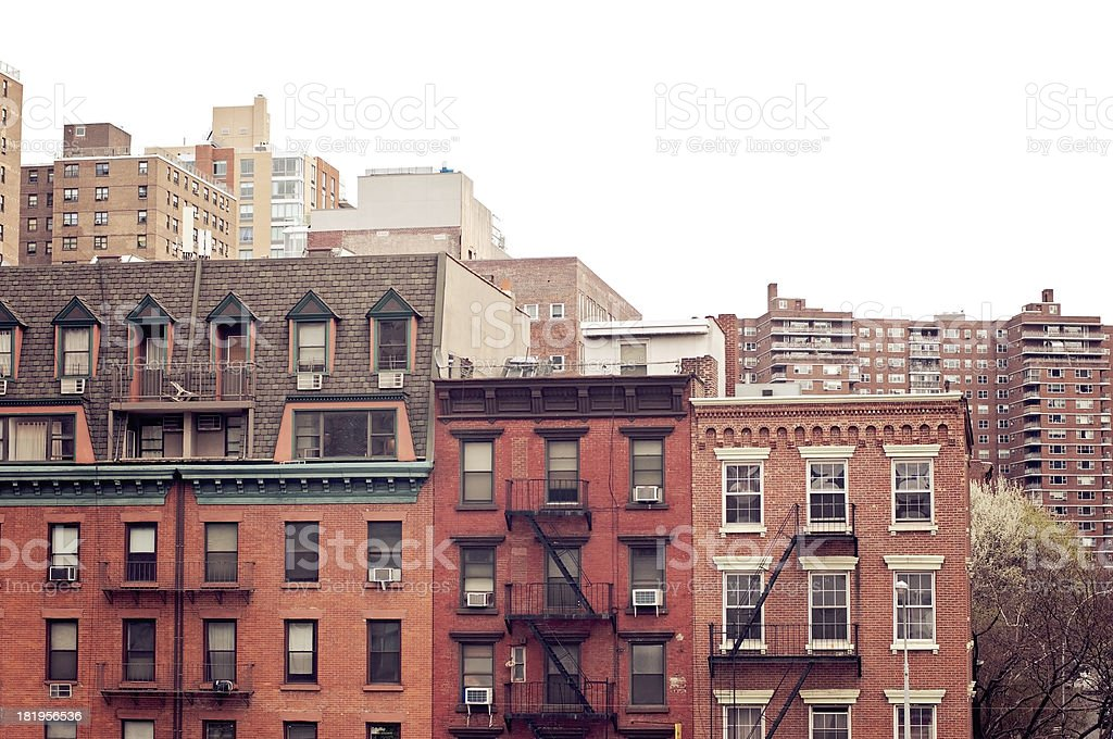 Brownstones royalty-free stock photo
