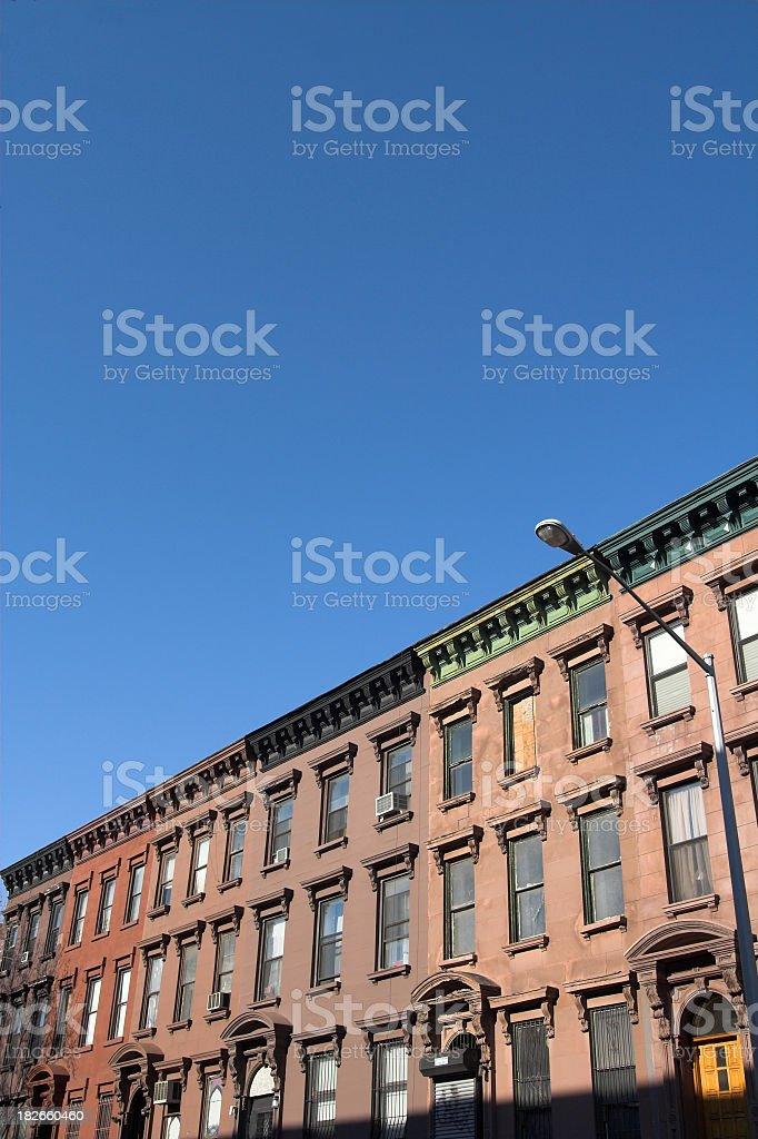 Brownstones royalty-free stock photo