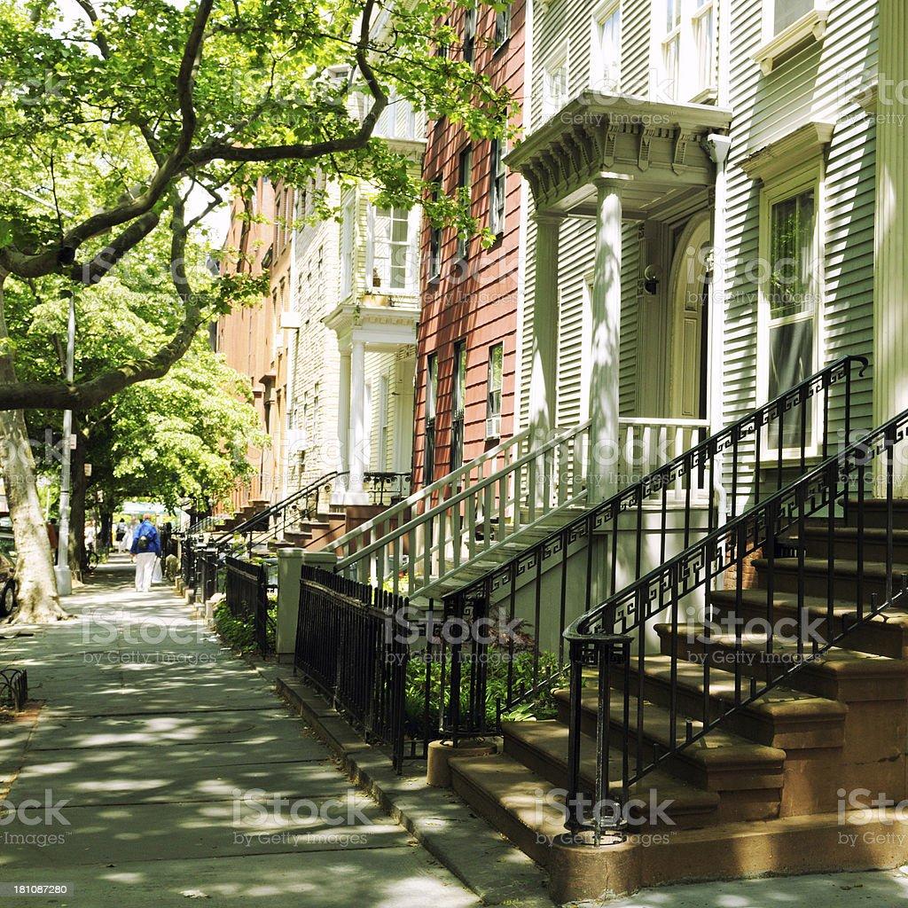 Brownstones,Brooklyn,NYC royalty-free stock photo