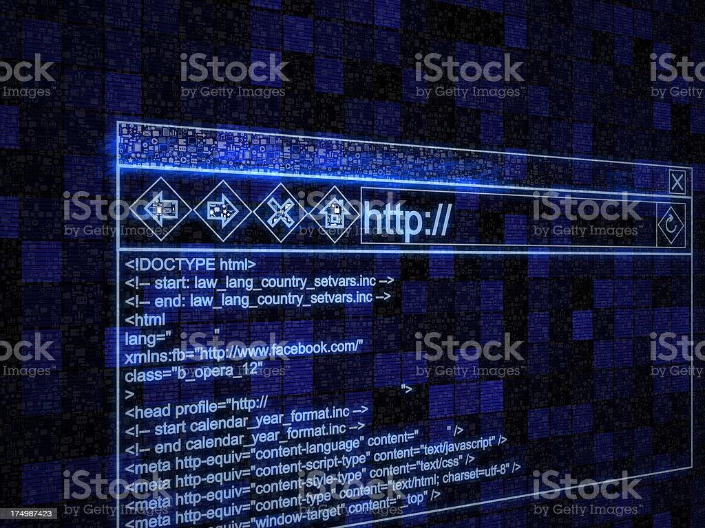 Browser window stock photo