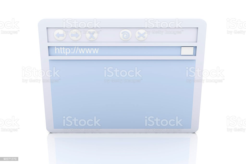 Browser Window royalty-free stock photo