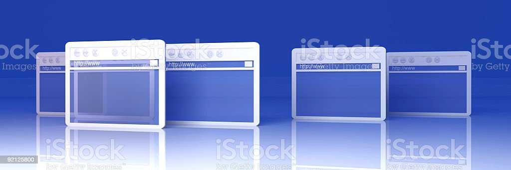 Browser Windows stock photo