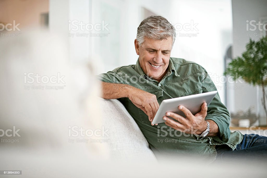 Browsing at leisure stock photo