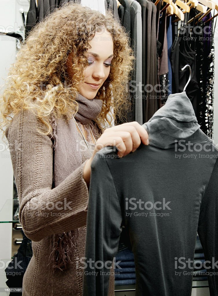 Browsing clothes royalty-free stock photo