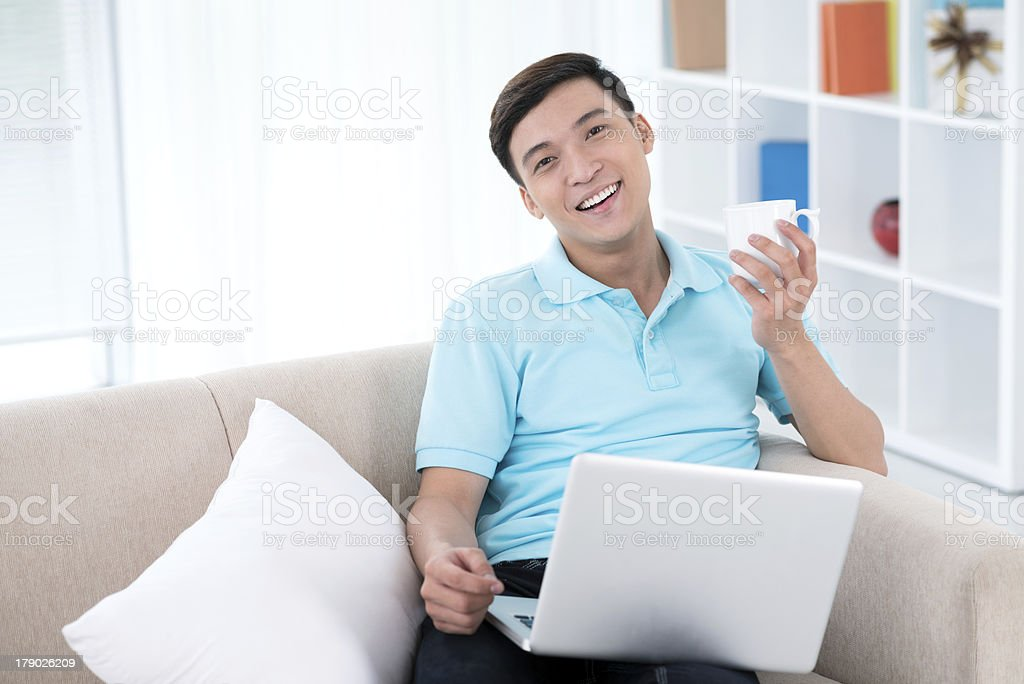 Browsing from home royalty-free stock photo