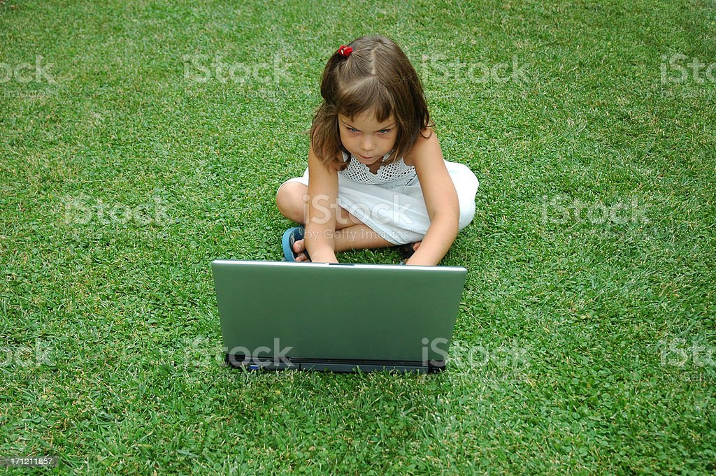 Browsing outside royalty-free stock photo
