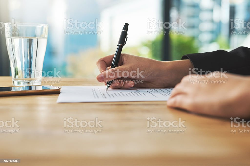 Browsing over some documents stock photo