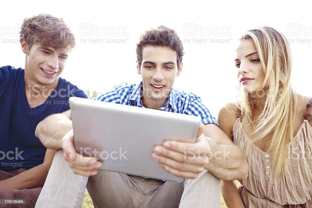 Browsing the internet royalty-free stock photo