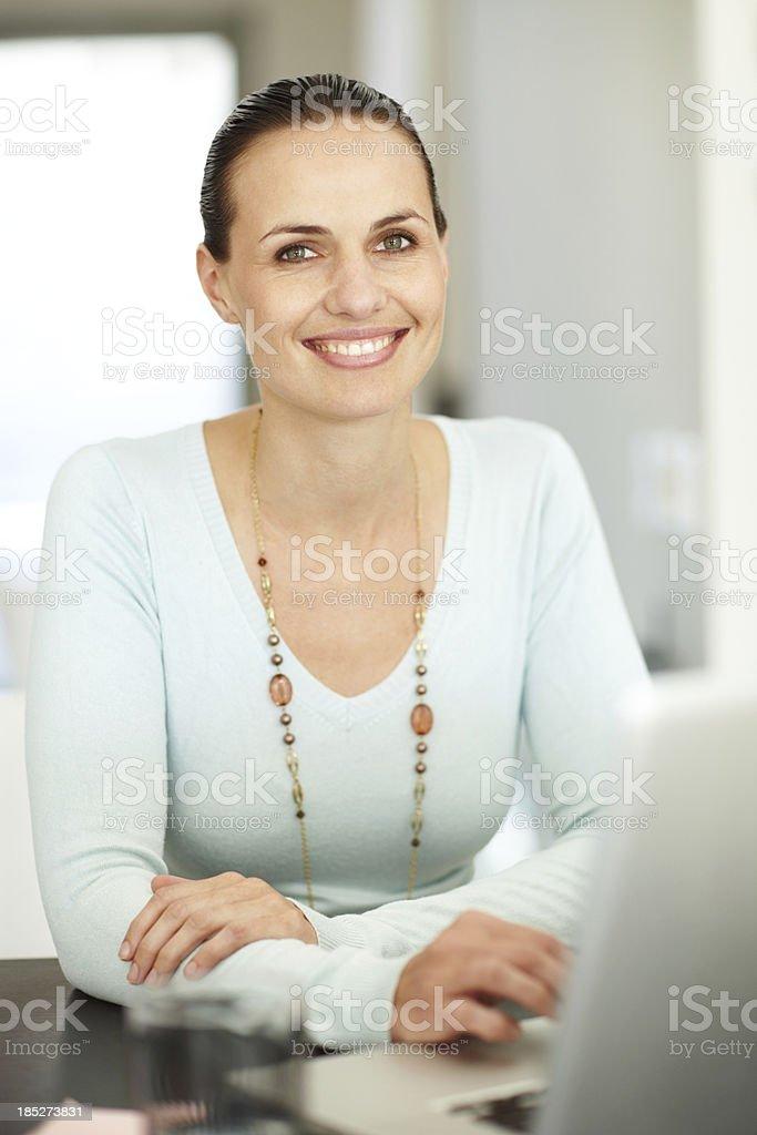 Browsing through the internet royalty-free stock photo