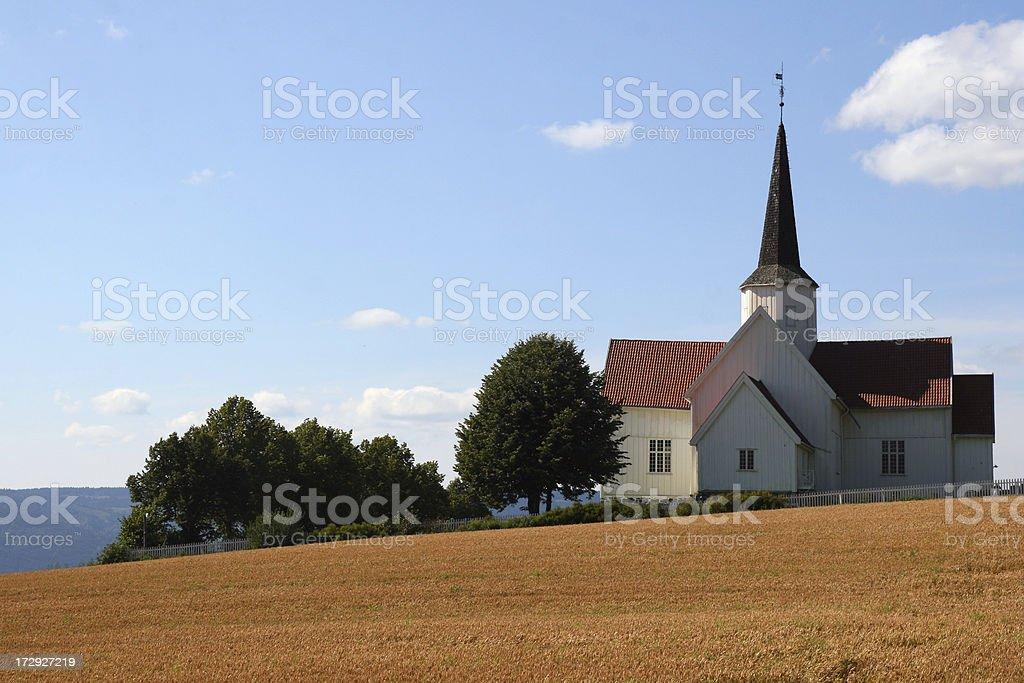 Brøttum Church royalty-free stock photo