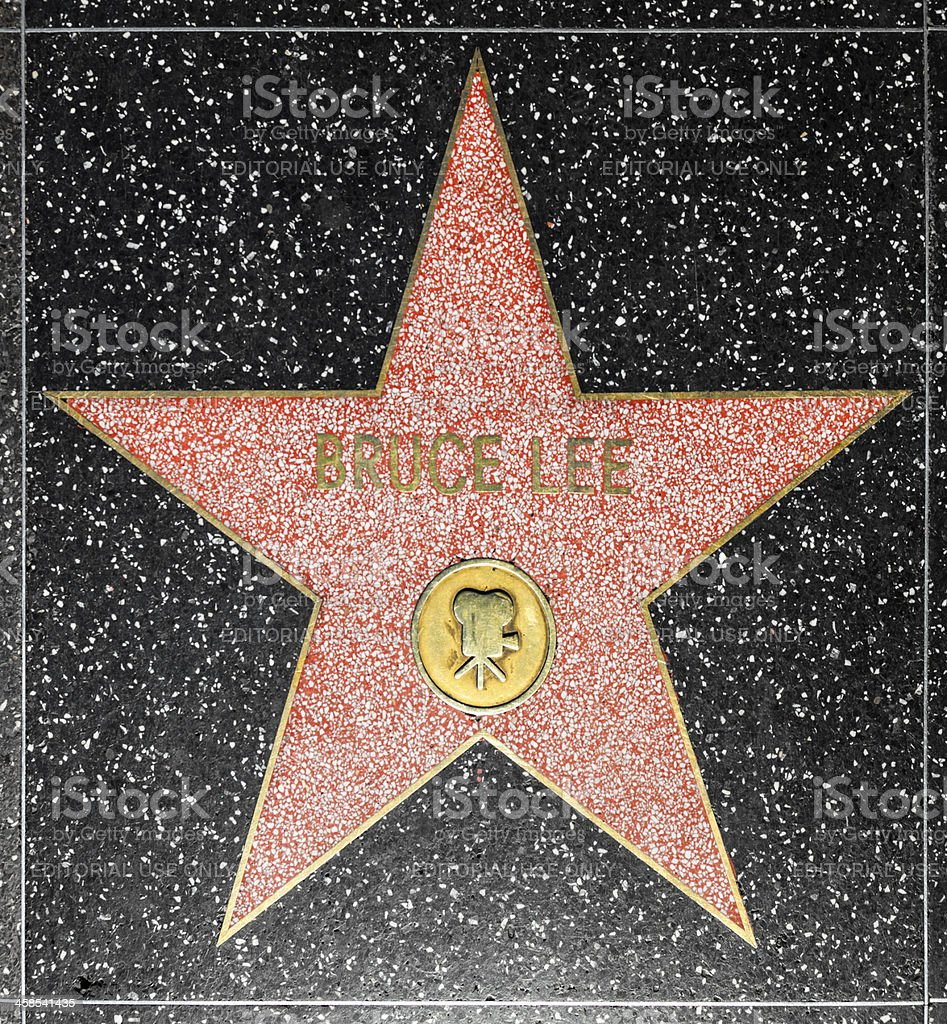 Bruce Lees star on Hollywood Walk of Fame royalty-free stock photo