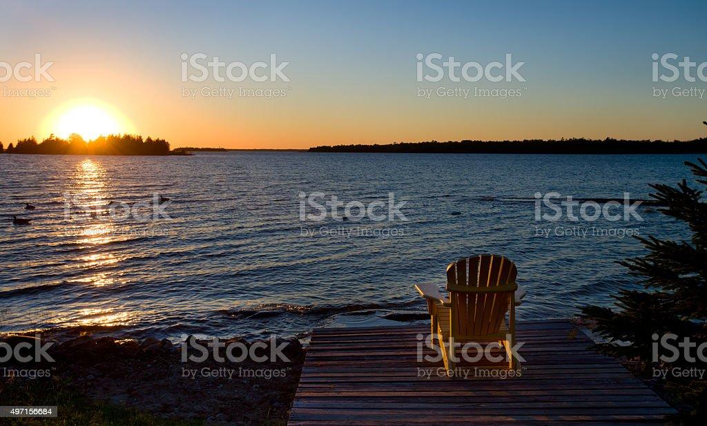 Bruce Peninsula at Cyprus lake, Ontario stock photo