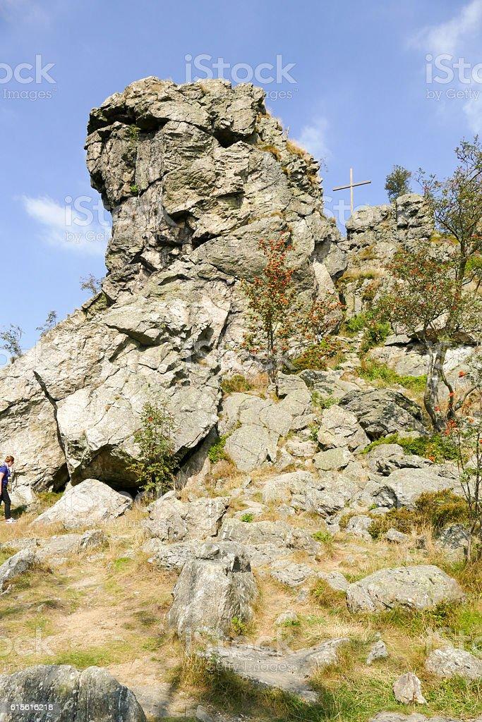 Bruchhauser steine. stock photo
